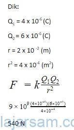 Pembahasan Contoh Soal Hukum Coulomb 1